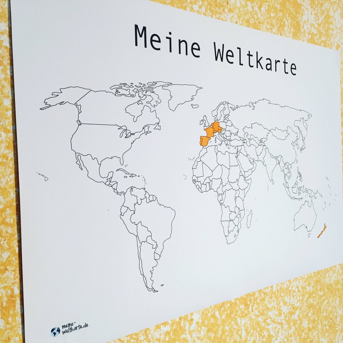 Meine Weltkarte De On Twitter Unser Alleskonner Die Weltkarte