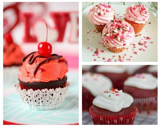 17 Pretty and Delicious Valentine Cupcake Recipes