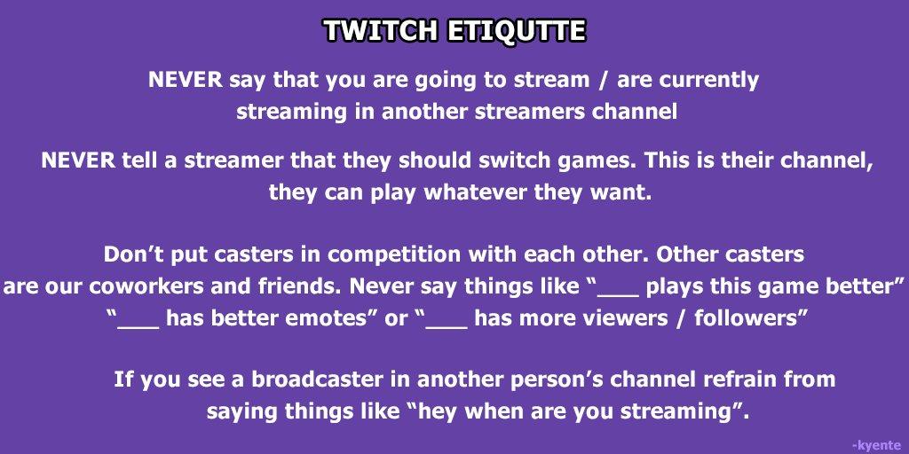 Twitch Stream Regeln