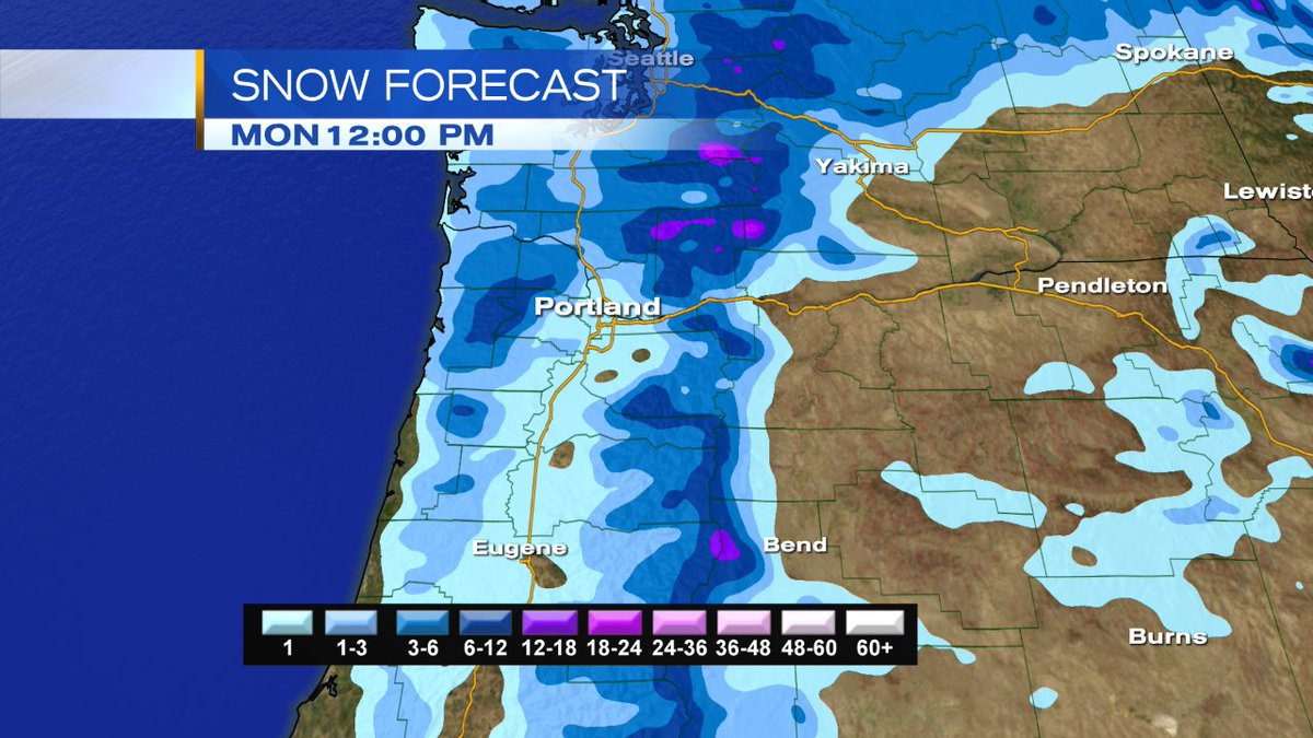 Winter Weather Advisory continues until Mon 6 AM at this time. Still chance for some snow tonight to Monday AM. Rainy for now. #pdxsnow <br>http://pic.twitter.com/Vo8PokcNBr