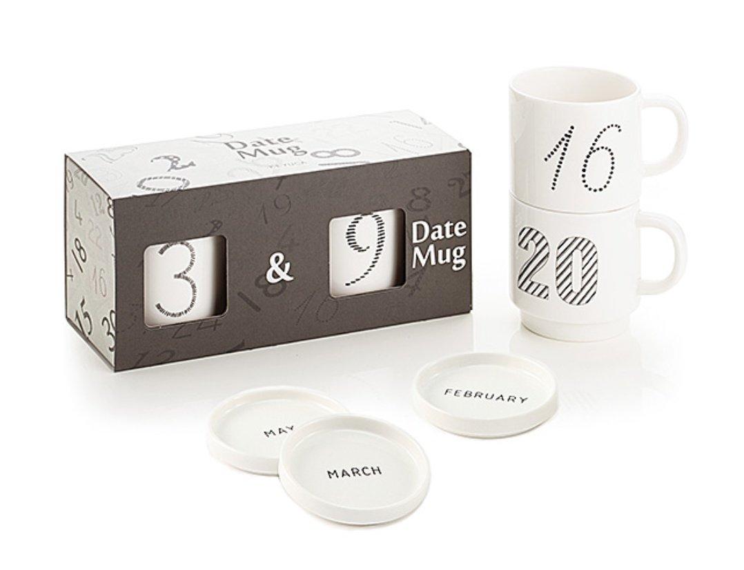 KEYUCAから数字入りマグカップが出ててさ……2つセットで箱に入れてもらえたりするんだけど、皆さん…
