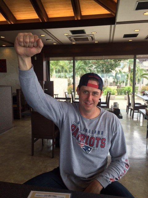 スーパーボール観戦を終えたダフィー選手。「凄い興奮したよ!やっぱりトム・ブレイディは最高だぜ!」とダ…