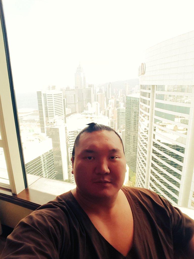 香港無事に着いた~ いよいよ明日ちゃんこ鵬のグランドオープンです。  Hongkongd marga…