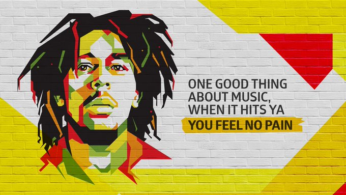 Happy birthday, Bob Marley, the Raja of Reggae, the prince of peace.