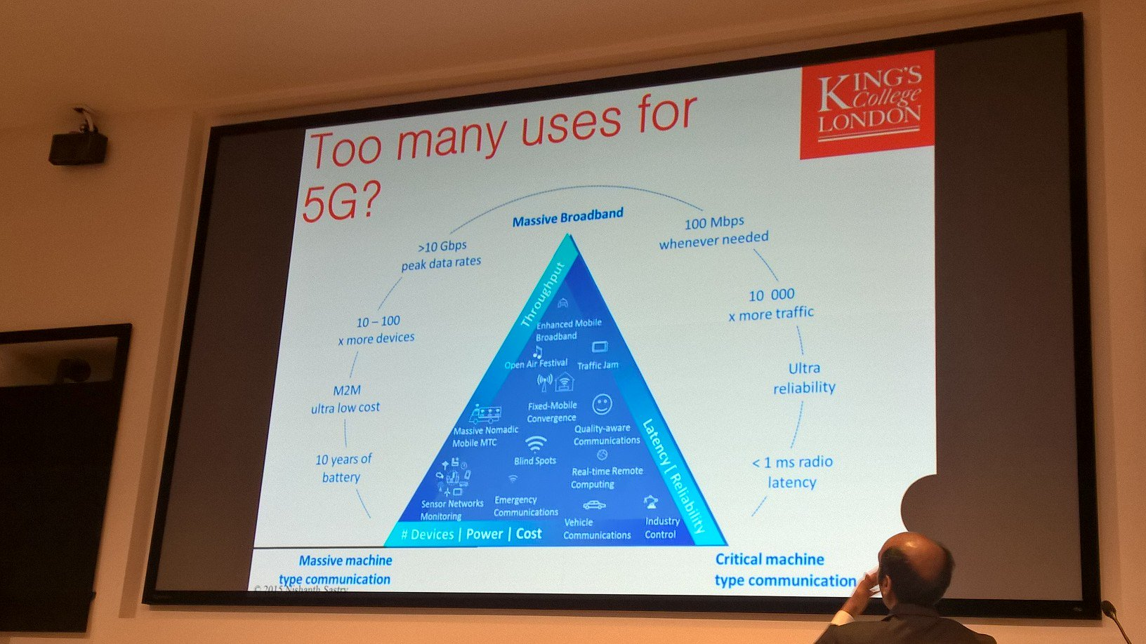"At #towards5g, @nishanthsastry: ""many use cases of #5G"" may be TOO many. Reconciling optimization with flexibility leads to network slicing. https://t.co/uast1Xo6uf"