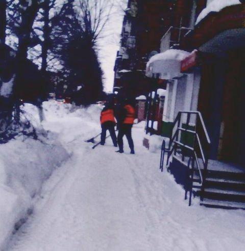 Уборка снега и наледи в Узловой