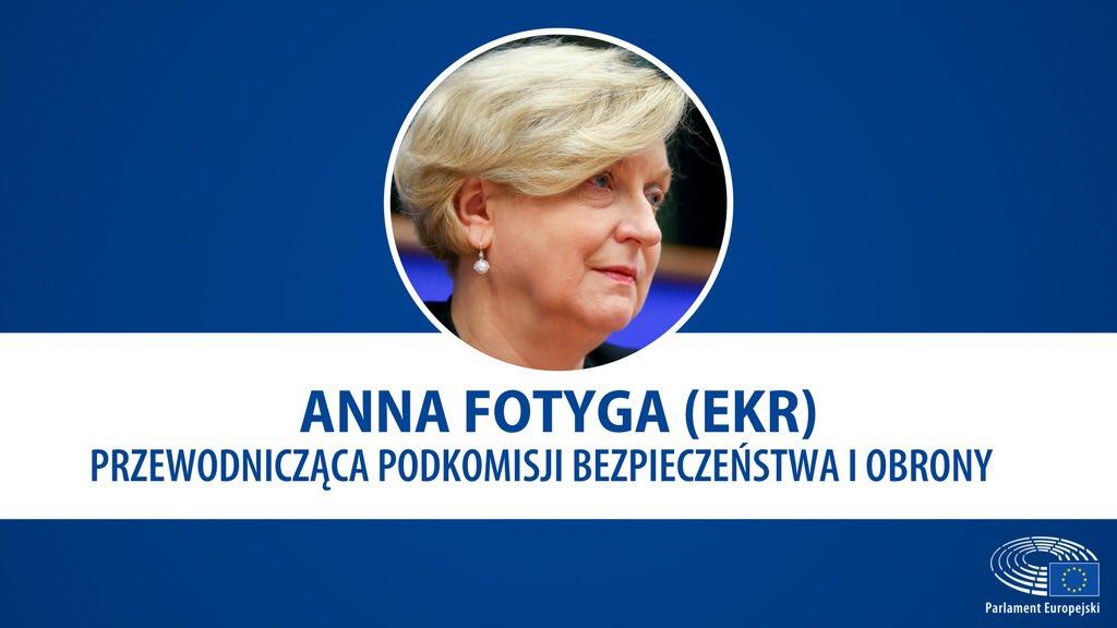 Anna Fotyga została wybrana na stanowisko przewodniczącej Podkomisji Bezpieczeństwa i Obrony w PE. Gratulacje!