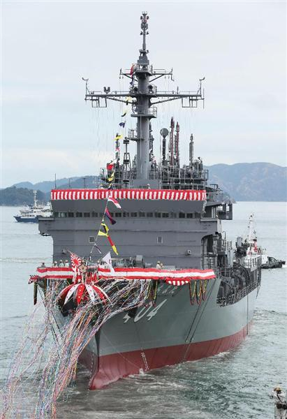 (産経写真部が総力、動画あり)海自の歌姫が国歌「君が代」独唱…世界一の潜水艦救難技術、新型艦「ちよだ…