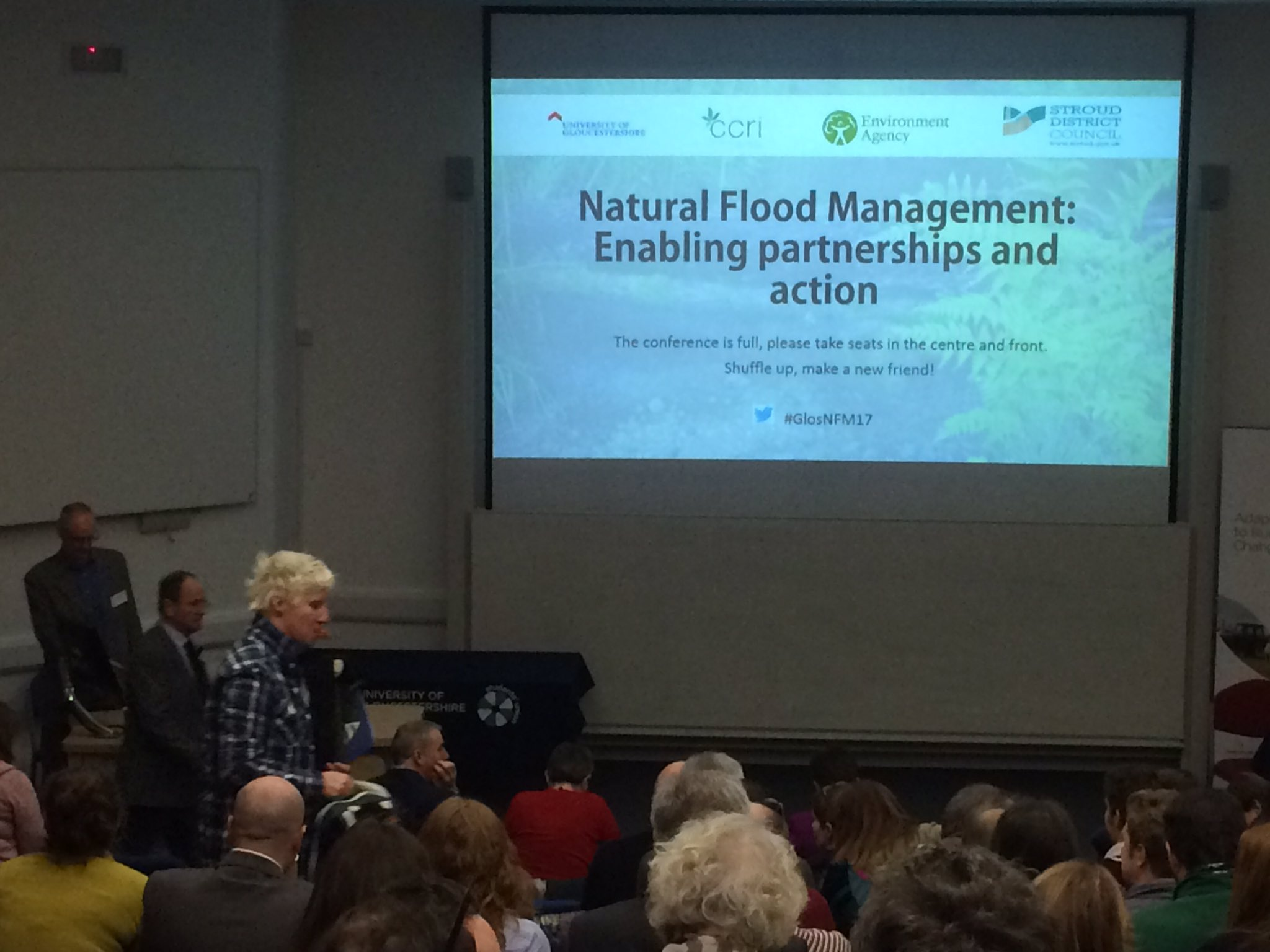 Full house of 200 delegates for start of Natural Flood Management Conference at @uniofglos #GlosNFM17 @CCRI_UK https://t.co/5gv4gaOhkg