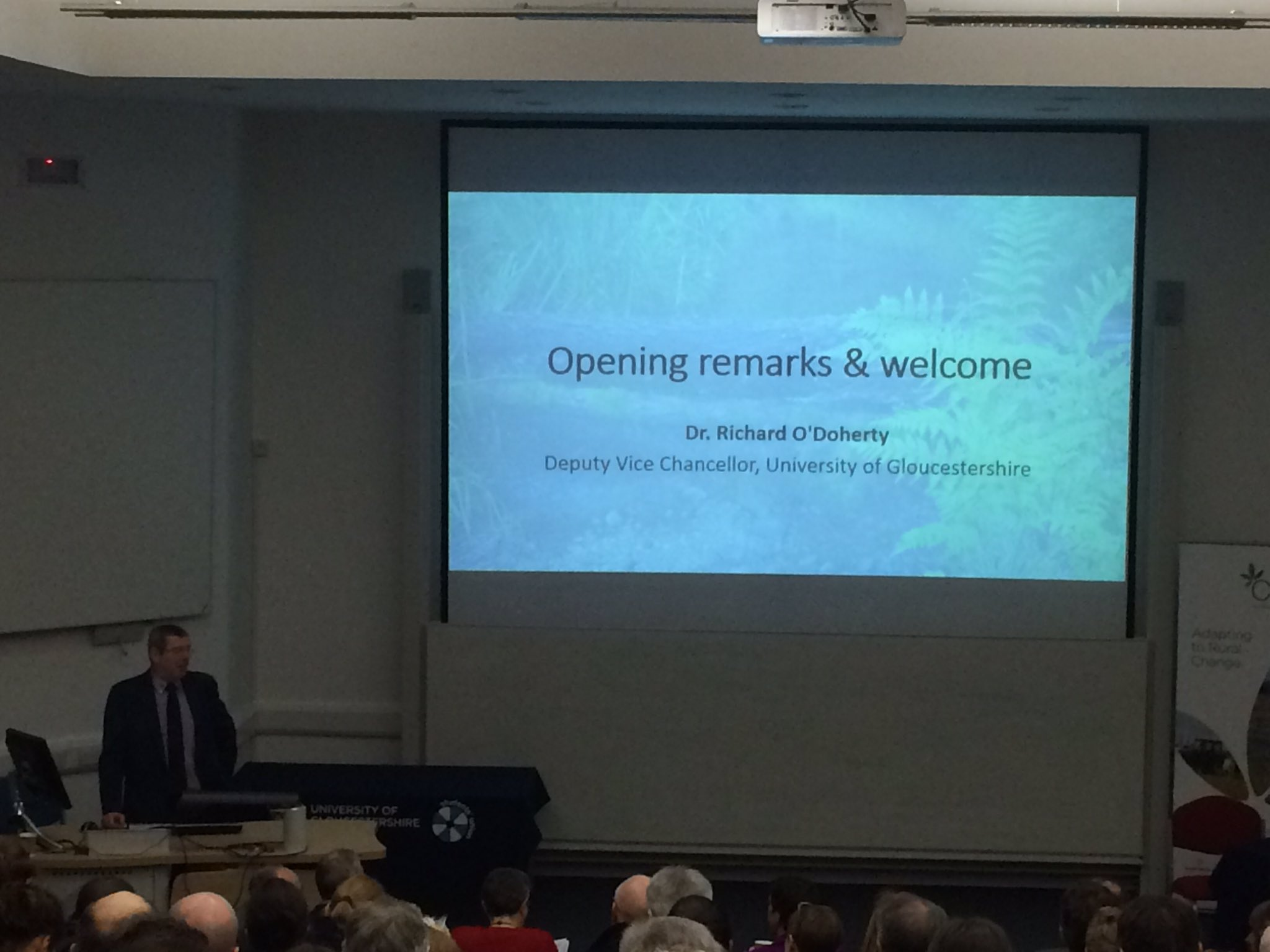 @uniofglos Deputy VC opens a packed Natural Flood Management Conference #GlosNFM17 https://t.co/ySJb1fb0O7
