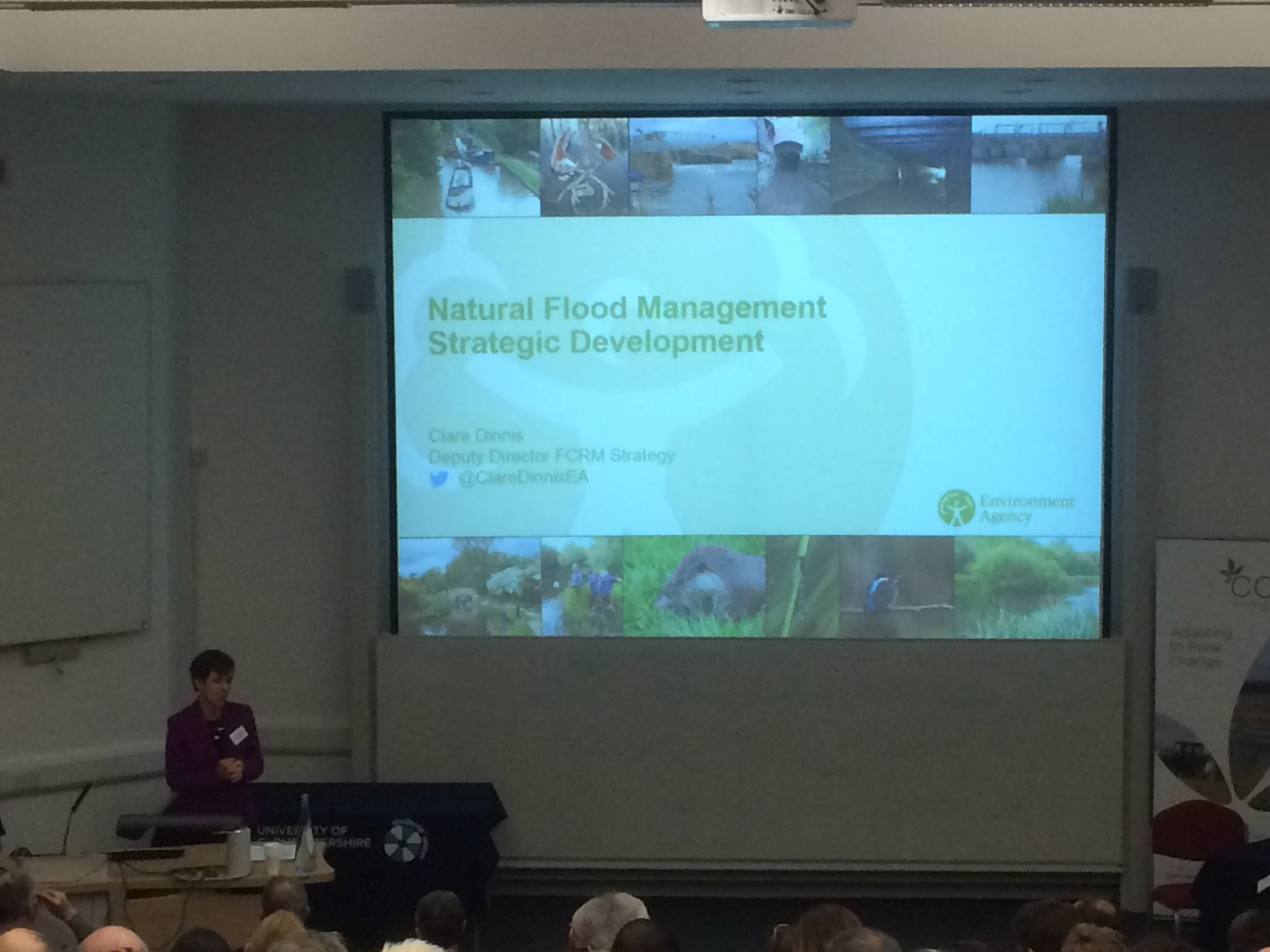 @ClareDinnisEA with the opening #GlosNFM17 presentation on Natural Flood Management https://t.co/p6GUzS4anD