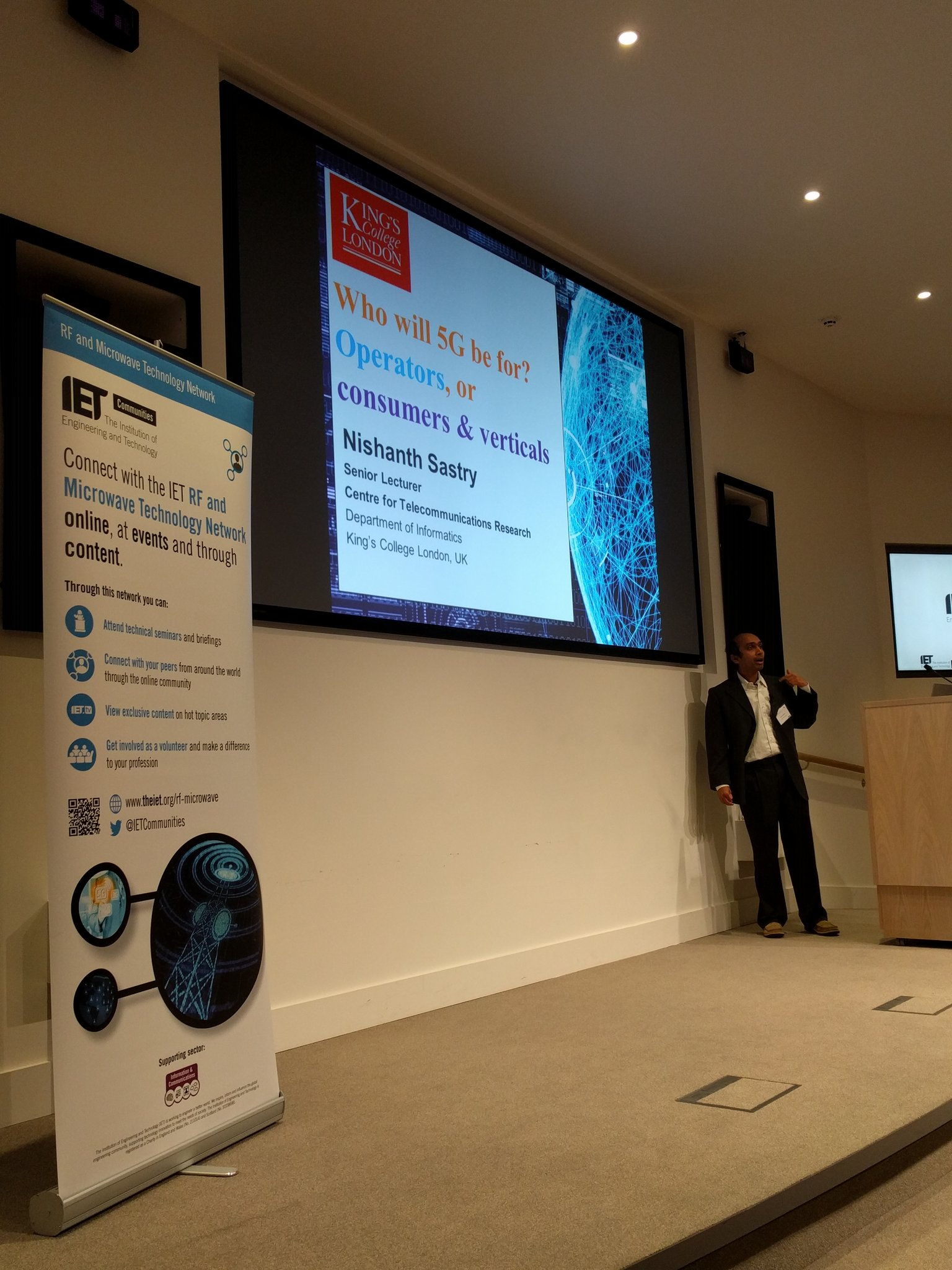 Now up is @nishanthsastry #towards5g @IETCommunities @TheIET https://t.co/SicHZdsM8S