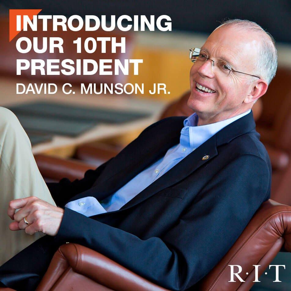 David C. Munson Jr. named #RIT's 10th president. #RITprez #RITNews  https://t.co/XZvIDqmYM1 https://t.co/g90GgMZxdp