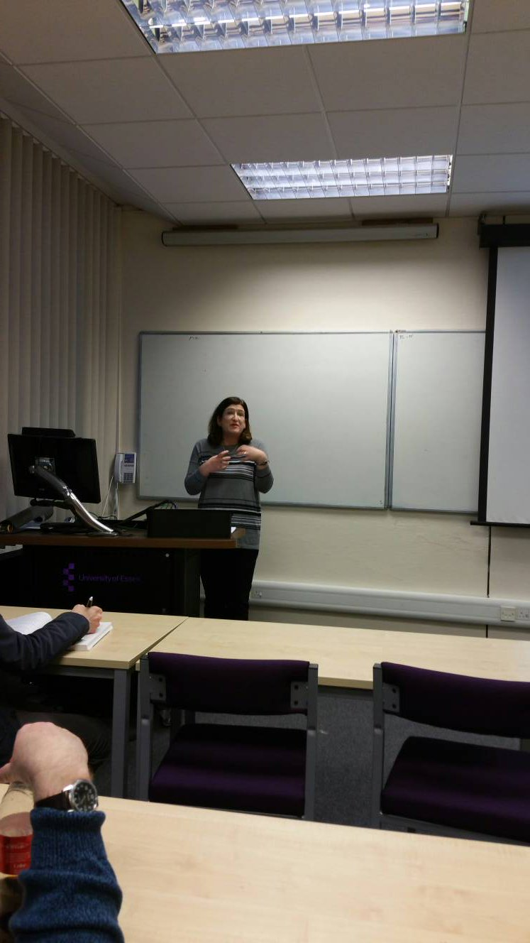 Somewhat dark pic of @RachelSRich speaking to us @essexhistory . https://t.co/W2BznDIWW6