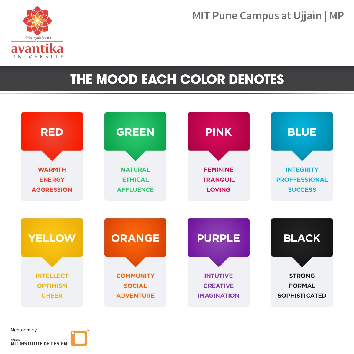 effect of colors essay The psychological properties of the eleven basic colours are as follows (learn how you can harness the positive effects of the colours.