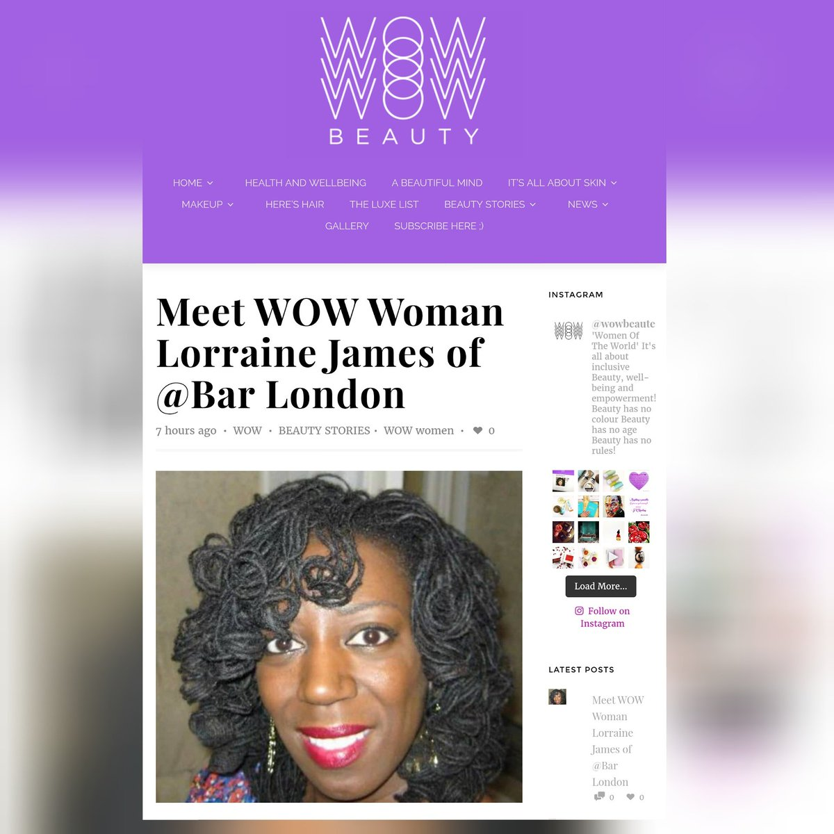 Image result for wow beauty lorraine james