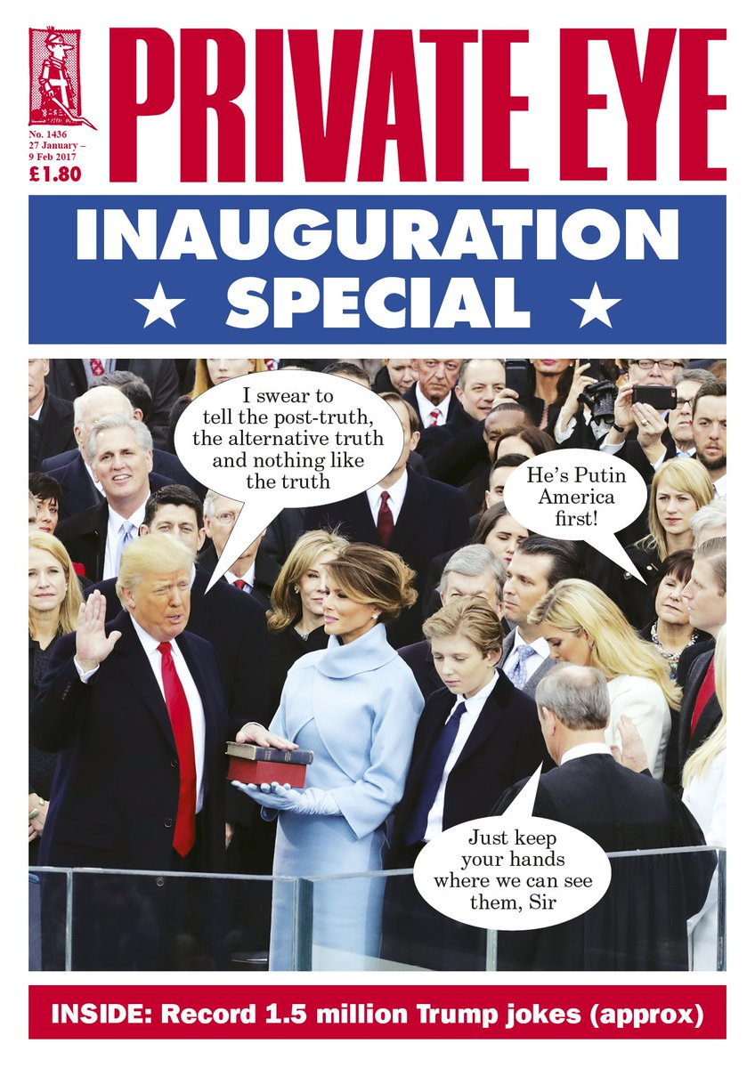 Inauguration Special: A record 1.5m Trump jokes (approx) in the new Eye, out now! https://t.co/dClw1epwQU