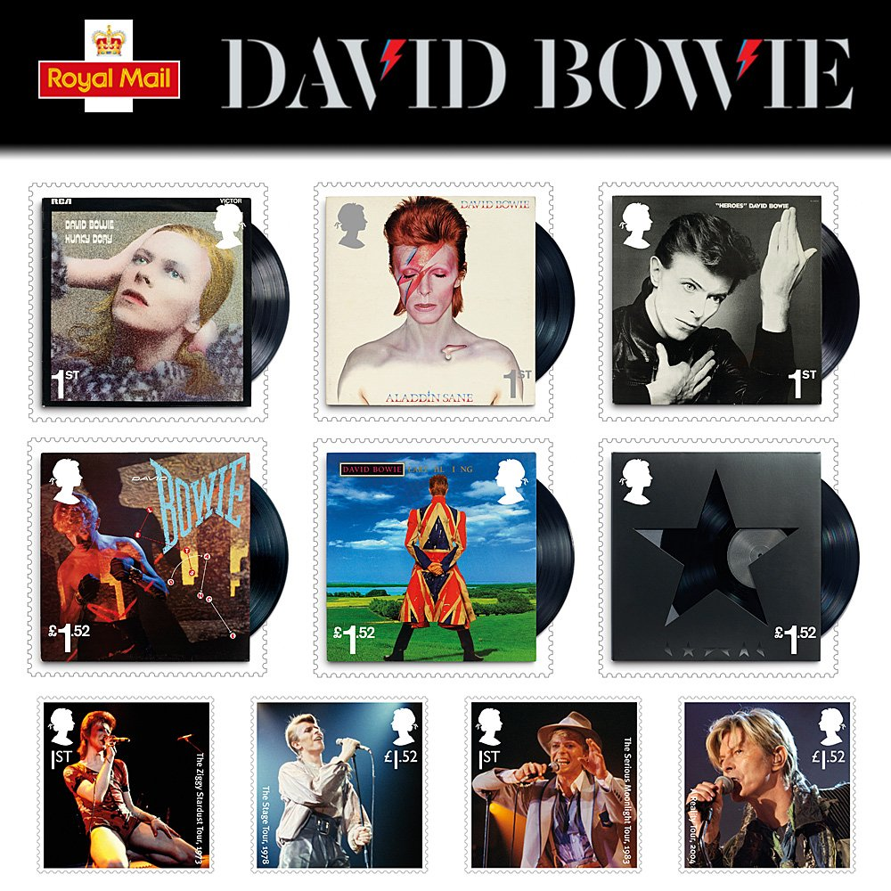 TEN New Special stamps to honour musician David Bowie