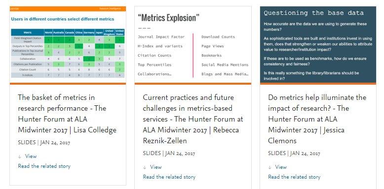 Download The Hunter Forum #alamw17 #researchmetrics slides from @rebeccarz @LisaColledge1 @clemonsjess at  http:// bit.ly/2k2WN4F  &nbsp;   <br>http://pic.twitter.com/dp5YbDrtF0