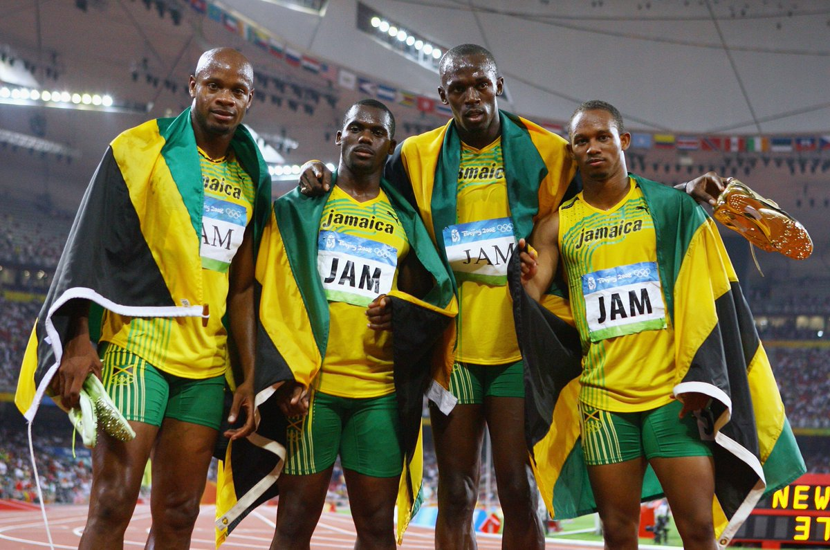 """BREAKING: Usain Bolt loses Beijing 2008 relay gold after teammate Nesta Carter disqualified for doping. Bolt no longer has """"triple treble"""" 🏅"""
