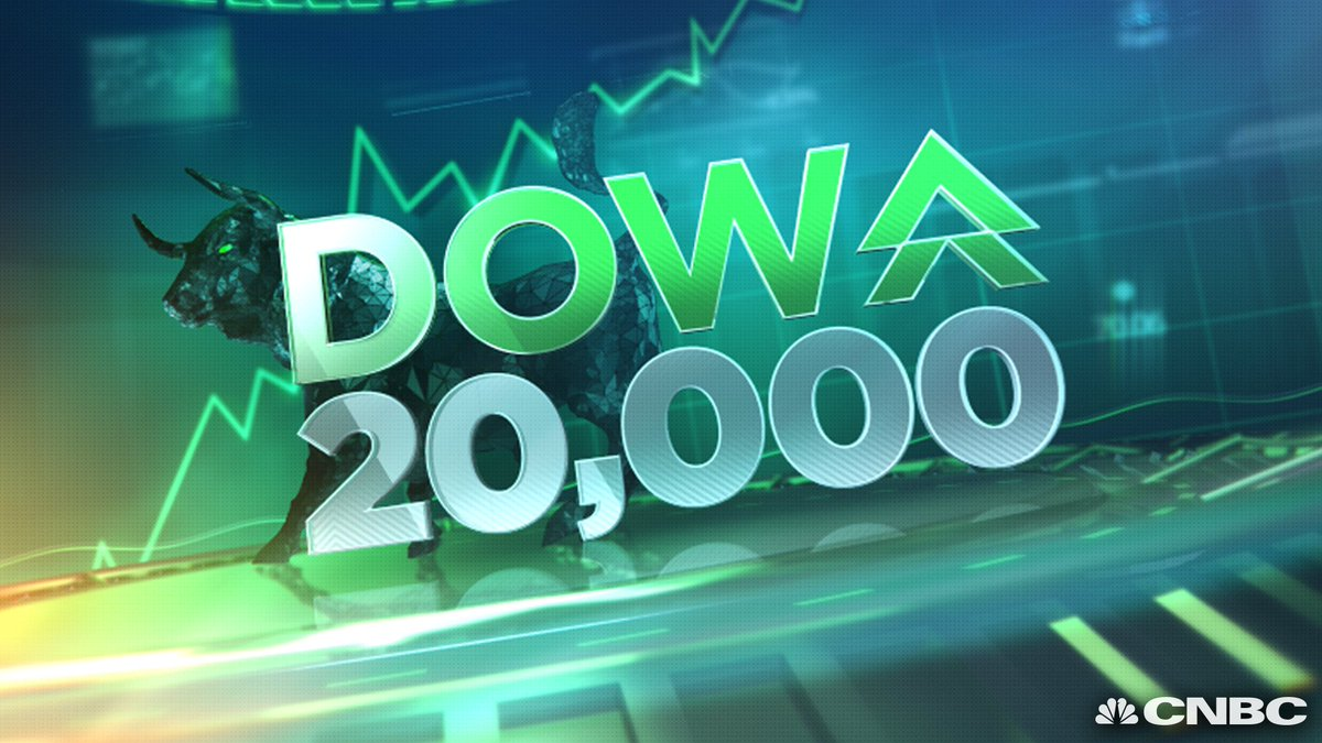 BREAKING: Dow Jones Industrial Average hits 20,000 for the very first time ever.  https://t.co/Mwdqezzuc8