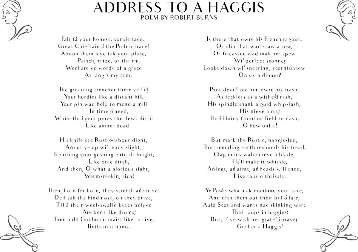 Holyrood Aparthotel On Twitter Haggis Is A Traditional