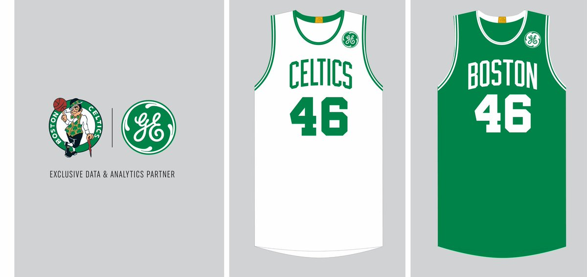 sale retailer 9f57e 45447 The Celtics reveal GE jersey patch : nba