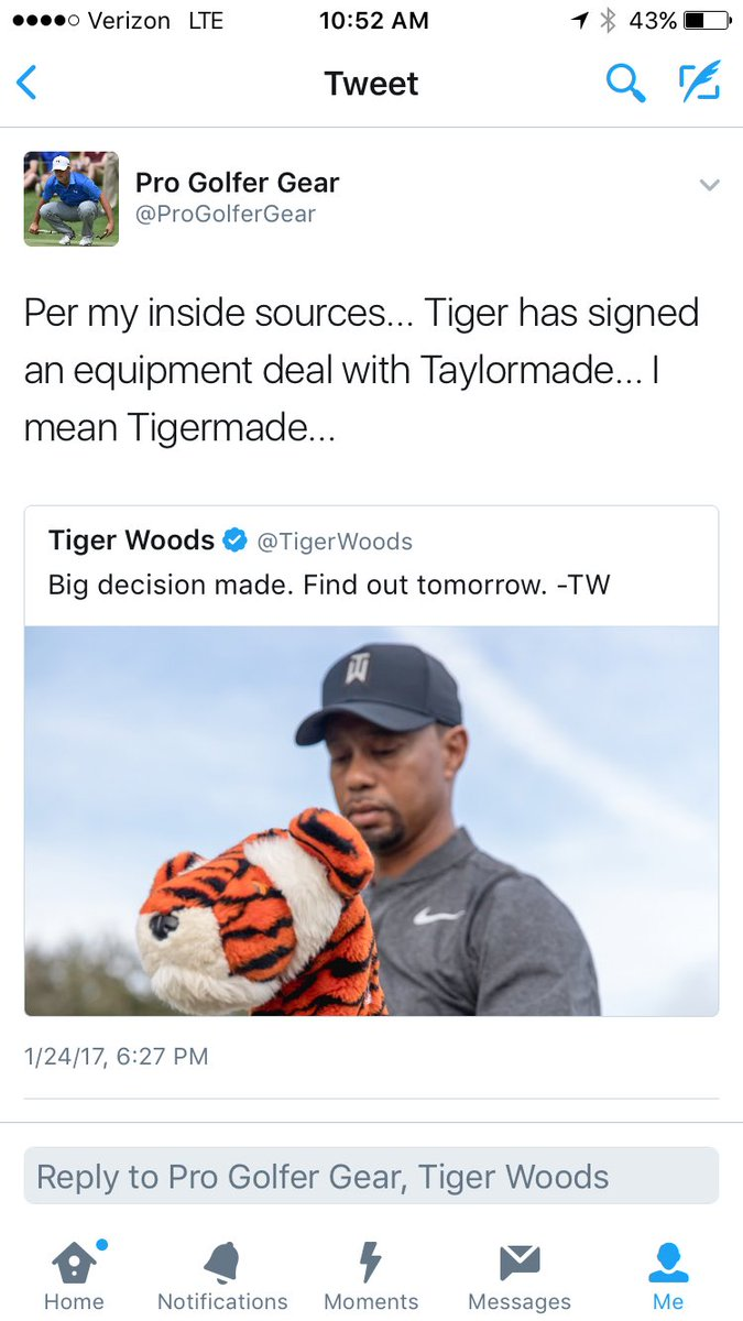 Tiger Woods on Twitter: \