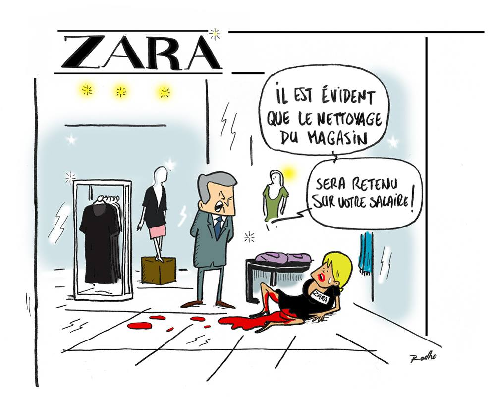 Des salariés en #soldes chez #ZARA #fastfashion   http://www. fakirpresse.info/au-paradis-de- zara &nbsp; …  via @Fakir_<br>http://pic.twitter.com/ZVxWxsuj3Y