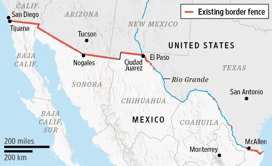 Rene Rigdon on Twitter Map The existing border fence between