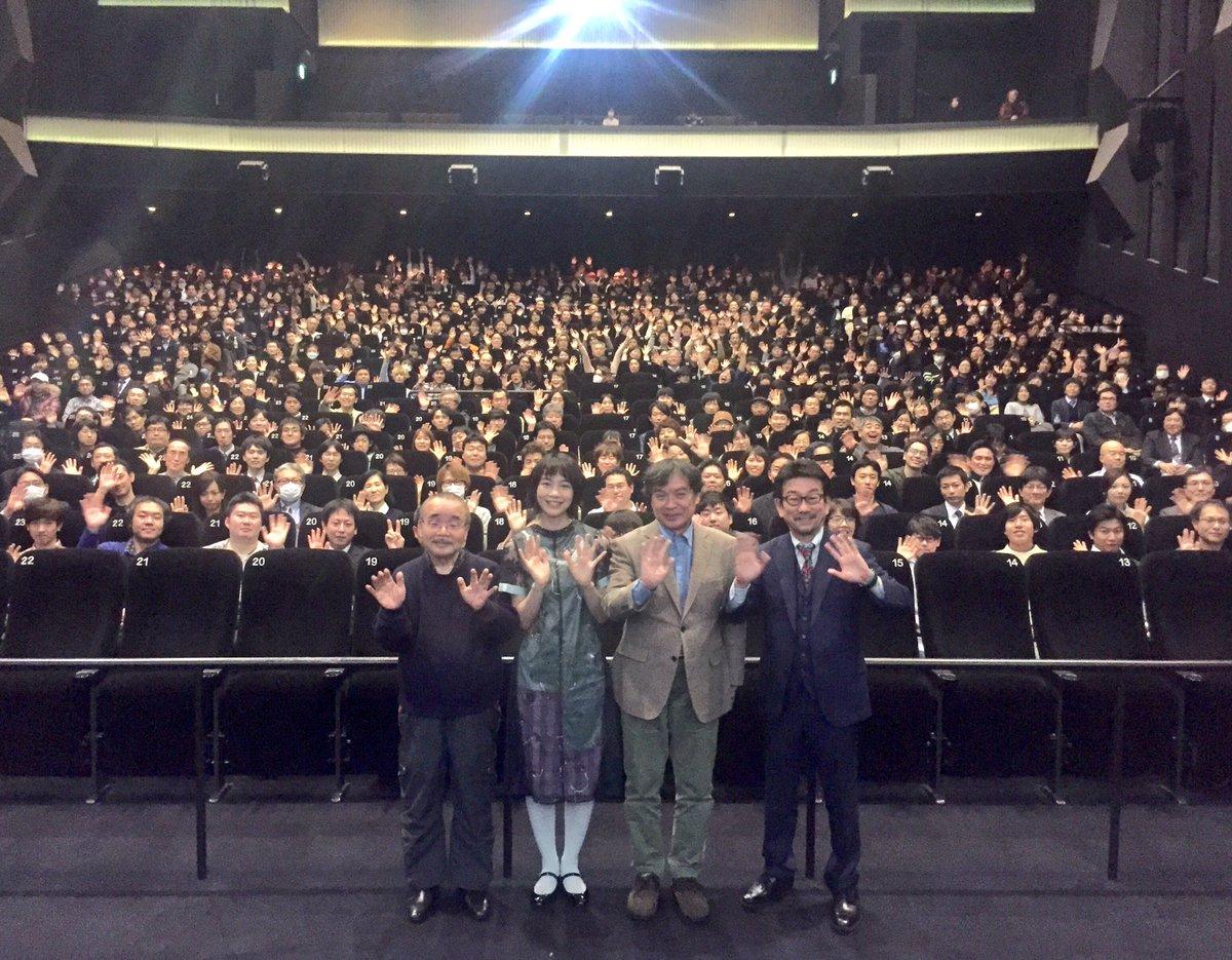 今日は新宿ピカデリーにて、100万人ありがとう大ヒット御礼舞台挨拶でした。のんさん、片渕監督、企画の…