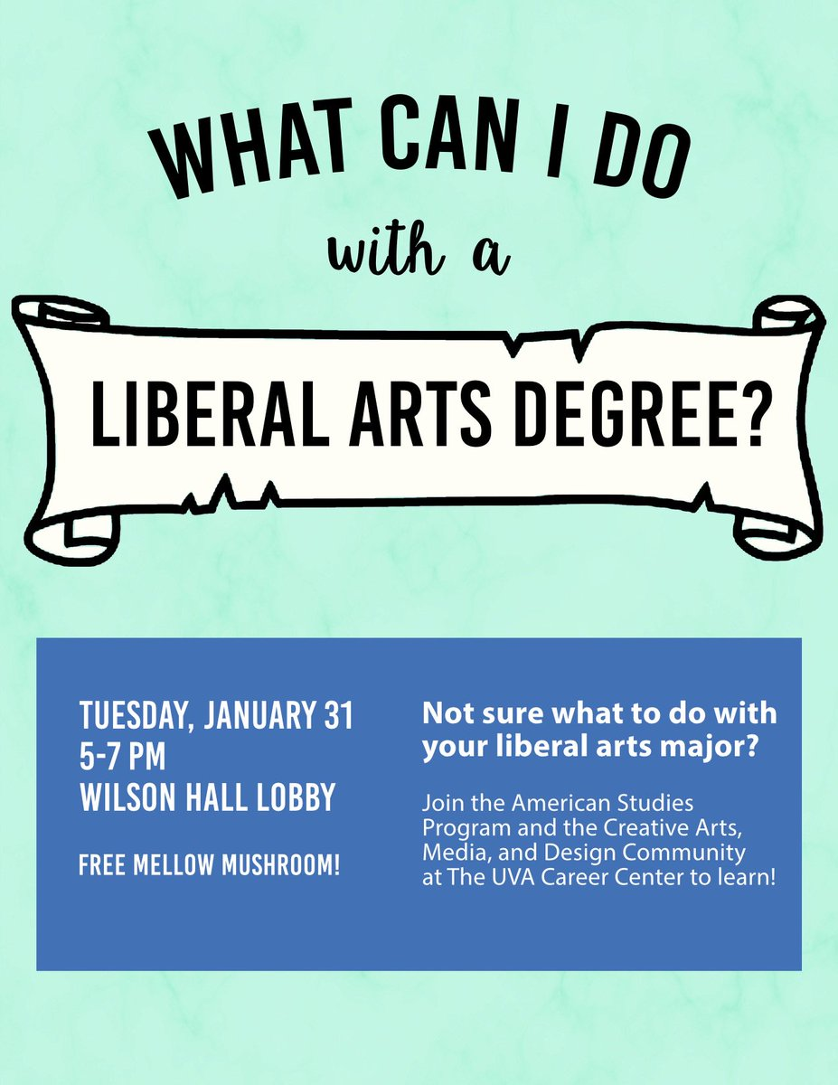 uva american studies amst uva twitter uva students wondering what you can do a liberal arts degree come out to this workshop by the amst program and the uvacareercenterpic com