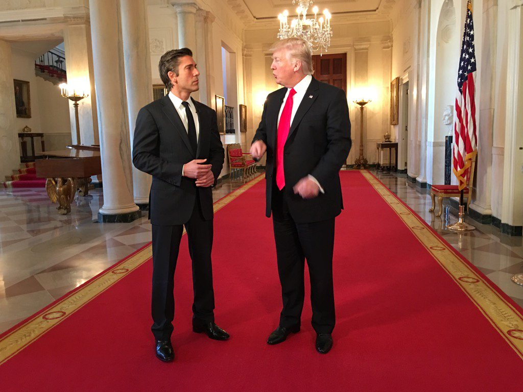 .@DavidMuir first @POTUS interview since taking office.  Tonight on @A...