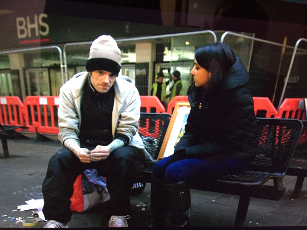 Leading 6 o'clock news @BBCOne - increase in rough sleepers. Shady says 'hard living on streets+ppl think your scum'