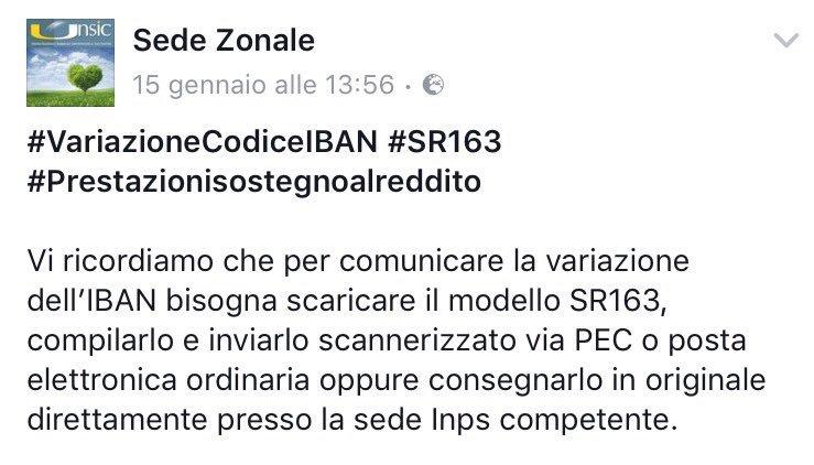 MODELLO SR163 INPS DA SCARICARE