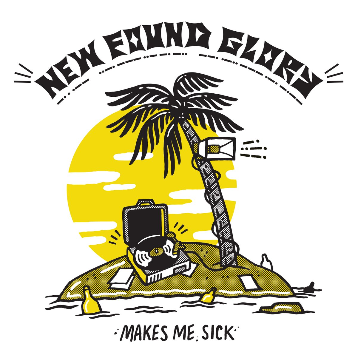 """NEW FOUND GLORY 'MAKES ME SICK'! NEW ALBUM AVAILABLE APRIL 28! FIRST SINGLE """"HAPPY BEING MISERABLE"""" OUT FEBRUARY 16! https://t.co/5ut7ZRipBa"""