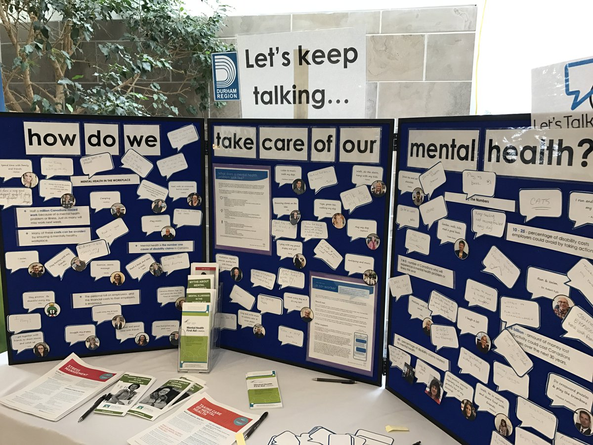 Taking the time to think about the importance of mental health at @RegionofDurham Headquarters! #BellLetsTalk https://t.co/LuTg7tHsNZ