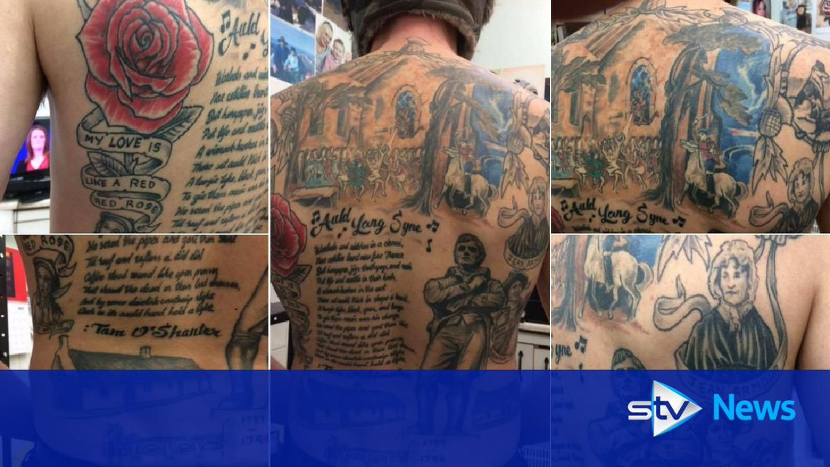7145c770dc0f6 Haggis, neeps and tattoos: Man's inked tribute to the Bard   Scoopnest
