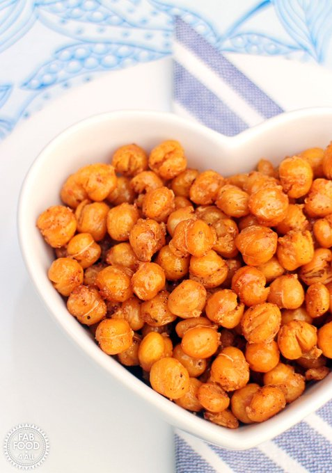 Smokey Maple Roasted Chickpeas