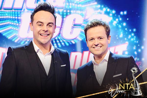 Congratulations to Ant & Dec's Saturday Night Takeaway 👏 for winning Best Entertainment Programme at the 2017 #NTAs