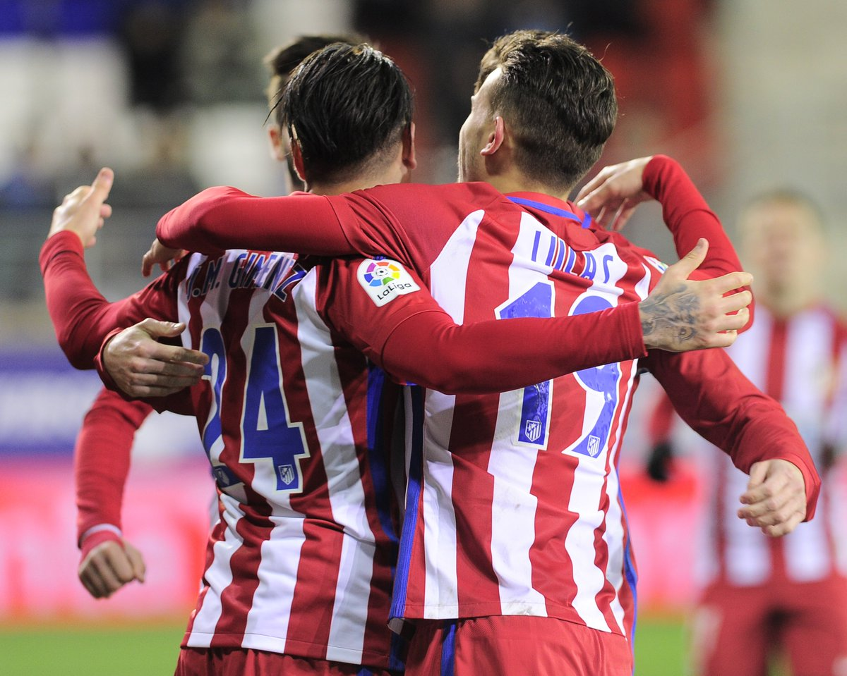 Job done. #AupaAleti draw 2-2 at Eibar to book a spot in the #CopadelRey semi-finals thanks to a 5-2 aggregate win!<br>http://pic.twitter.com/B5IWB7PLze