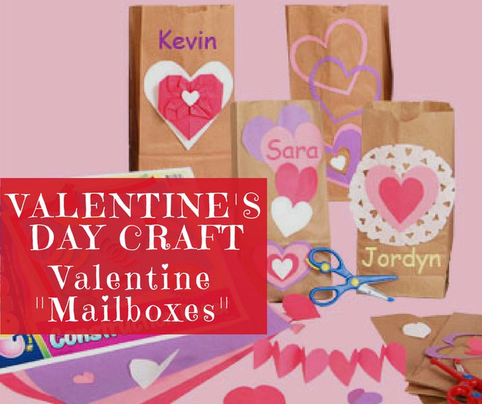 "Valentine's Day Craft: Valentine ""Mailboxes"""