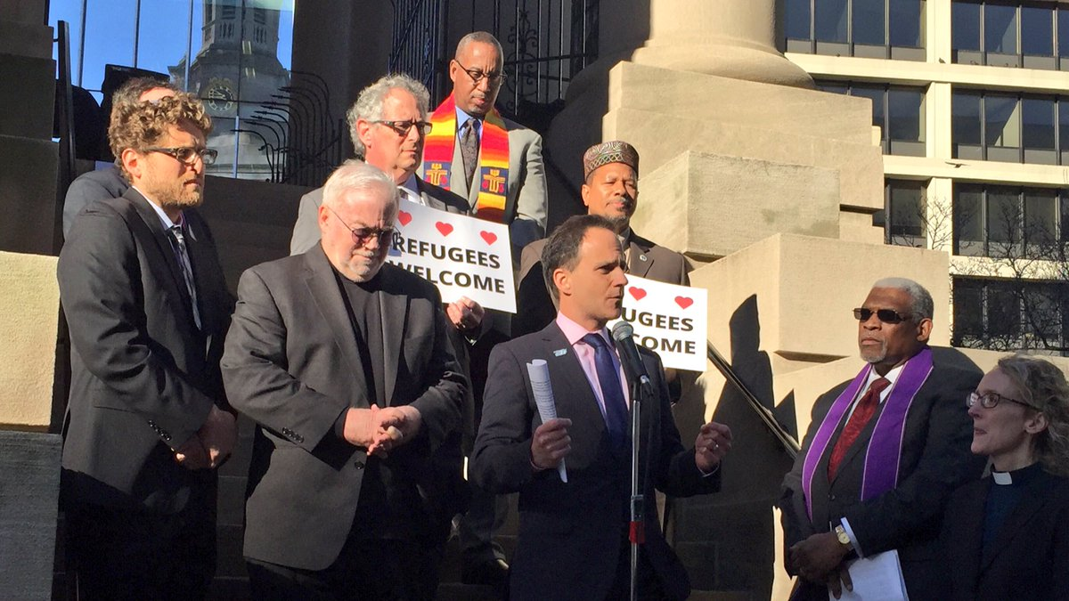 """A ban on one religion is a ban on all religions."" - Rabbi @JonahPesner #RefugeesWelcome https://t.co/VazpN5NKwY"