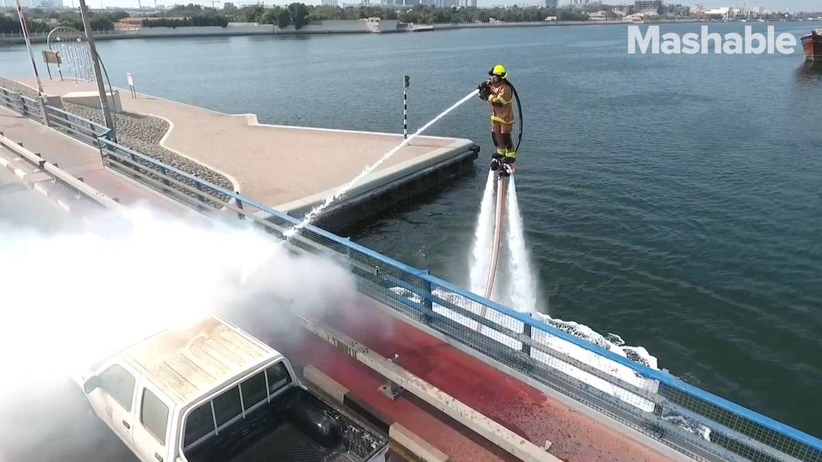 Image for the Tweet beginning: Firefighters with jetpacks? You need