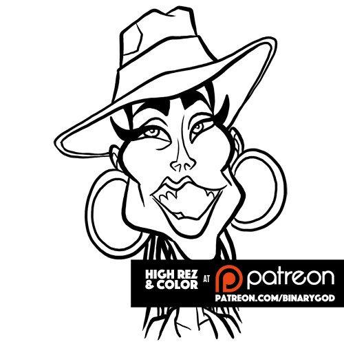 Jan 25: Happy birthday Alicia Keys! Color at  Custom illustration at