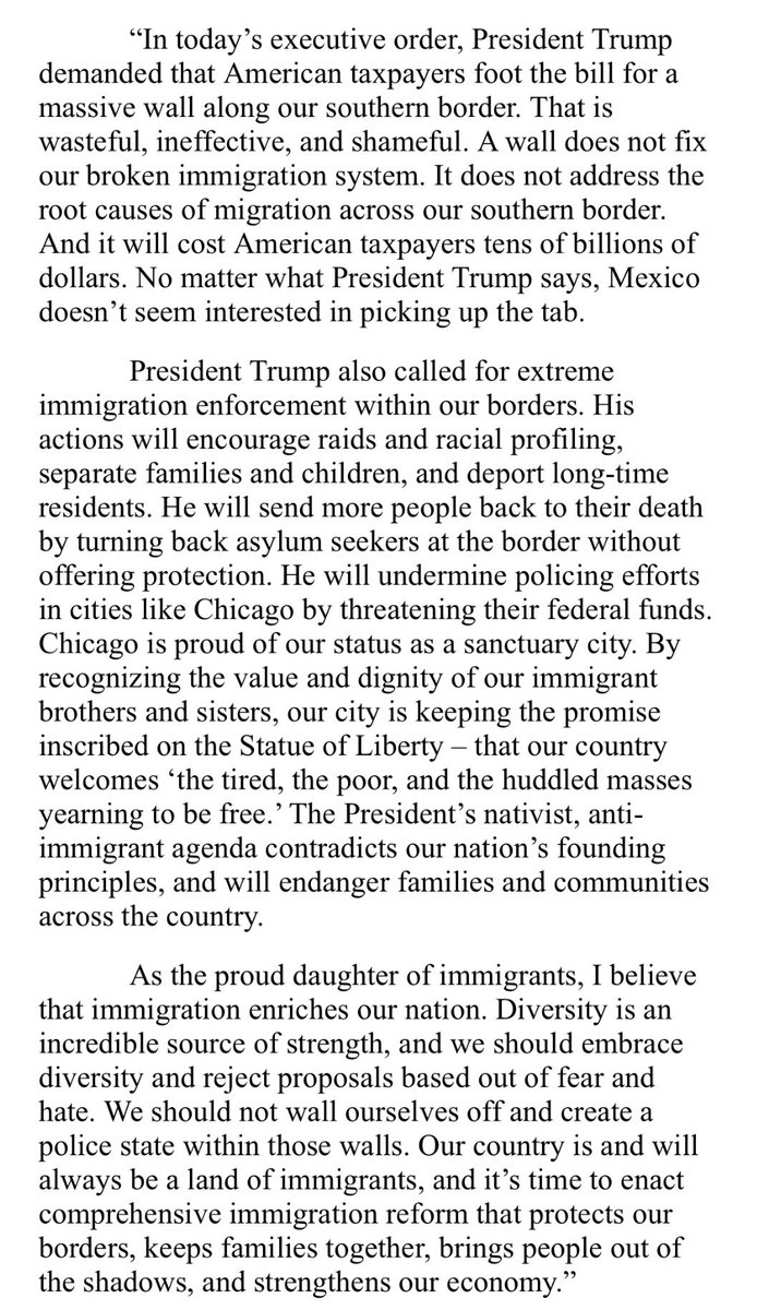 Jan Schakowsky On Twitter My Statement On President Trumps  Jan Schakowsky On Twitter My Statement On President Trumps Nativist  Executive Order On Immigration