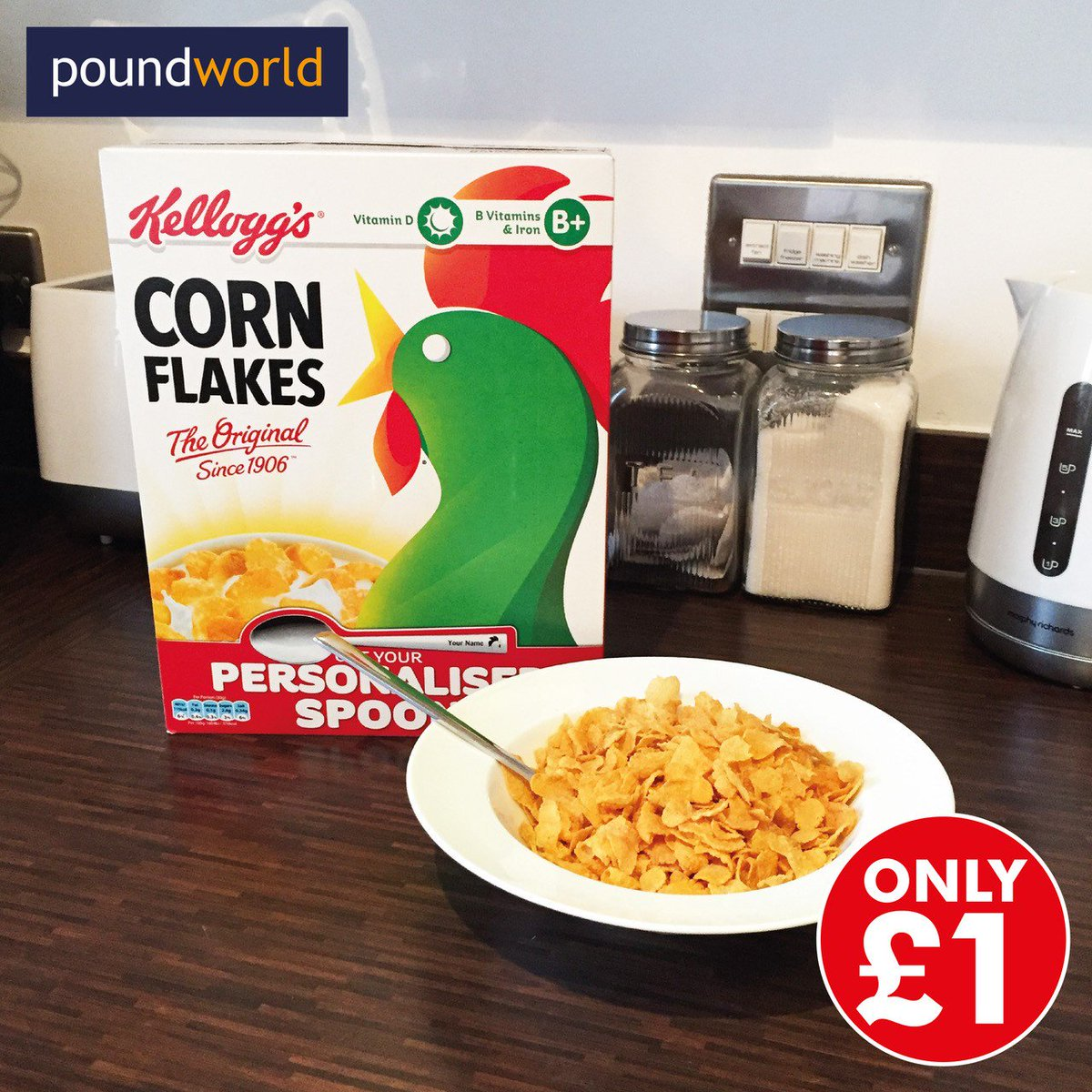 Poundworld On Twitter Its Breakfastweek Heres A Crunchy Deal Kelloggs Corn Flakes 500g For Only 1 450g Box Costs 175 In Other Stores At The Mo Https Tco U1lj0jtd4z