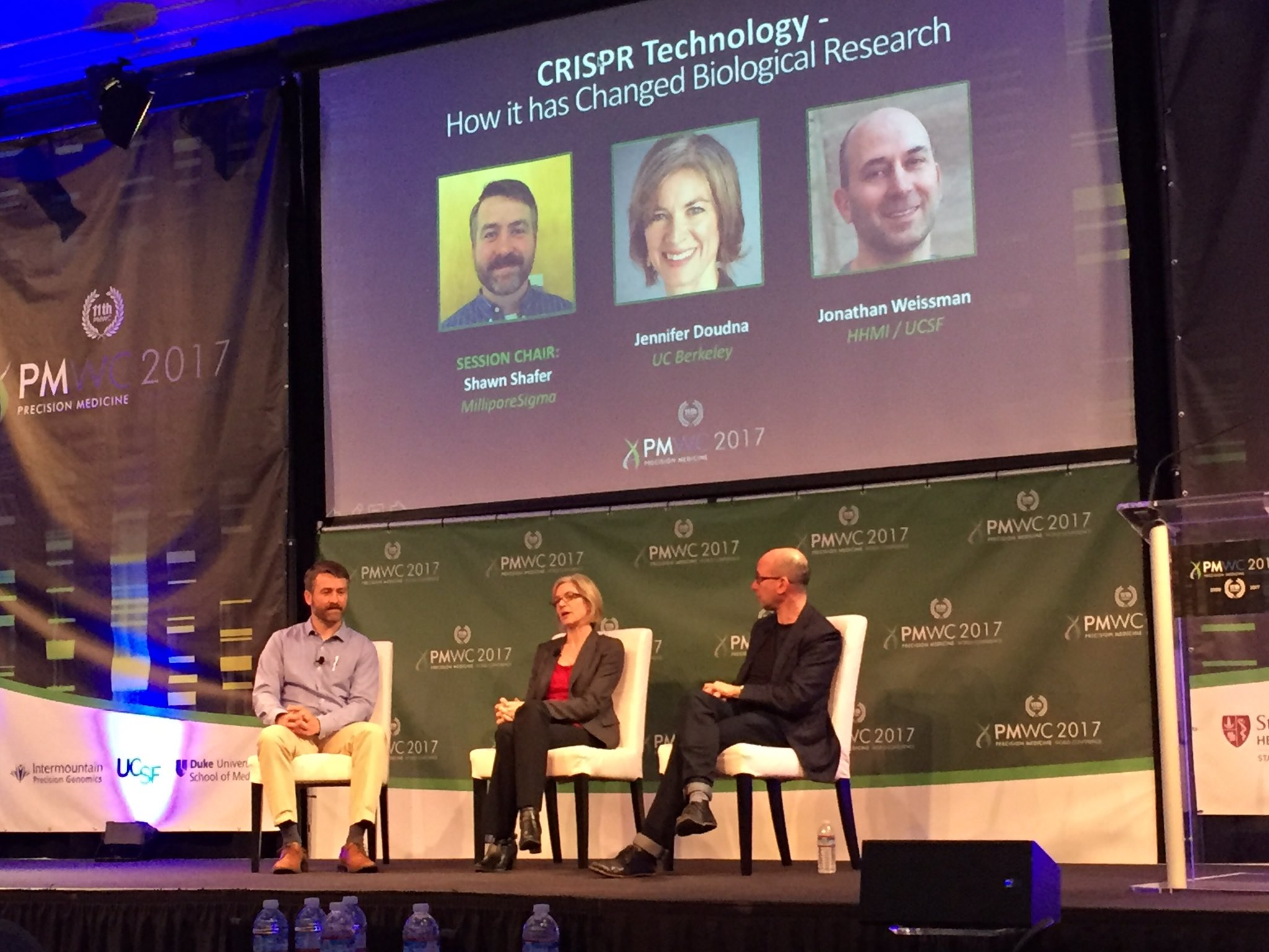 """""""You too can edit the genome"""" Jennifer Doudna @UCBerkeley indiegogo #CRISPR kit. Need to understand how to utilize the technology #PMWC17 https://t.co/OhLTtd9NMq"""