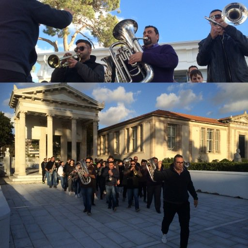 #Pafos Municipality band rehearsing 'Kites' by Theodorakis @pafos_2017 #Paphos #Europe #Culture https://t.co/dhLi5WQsm1