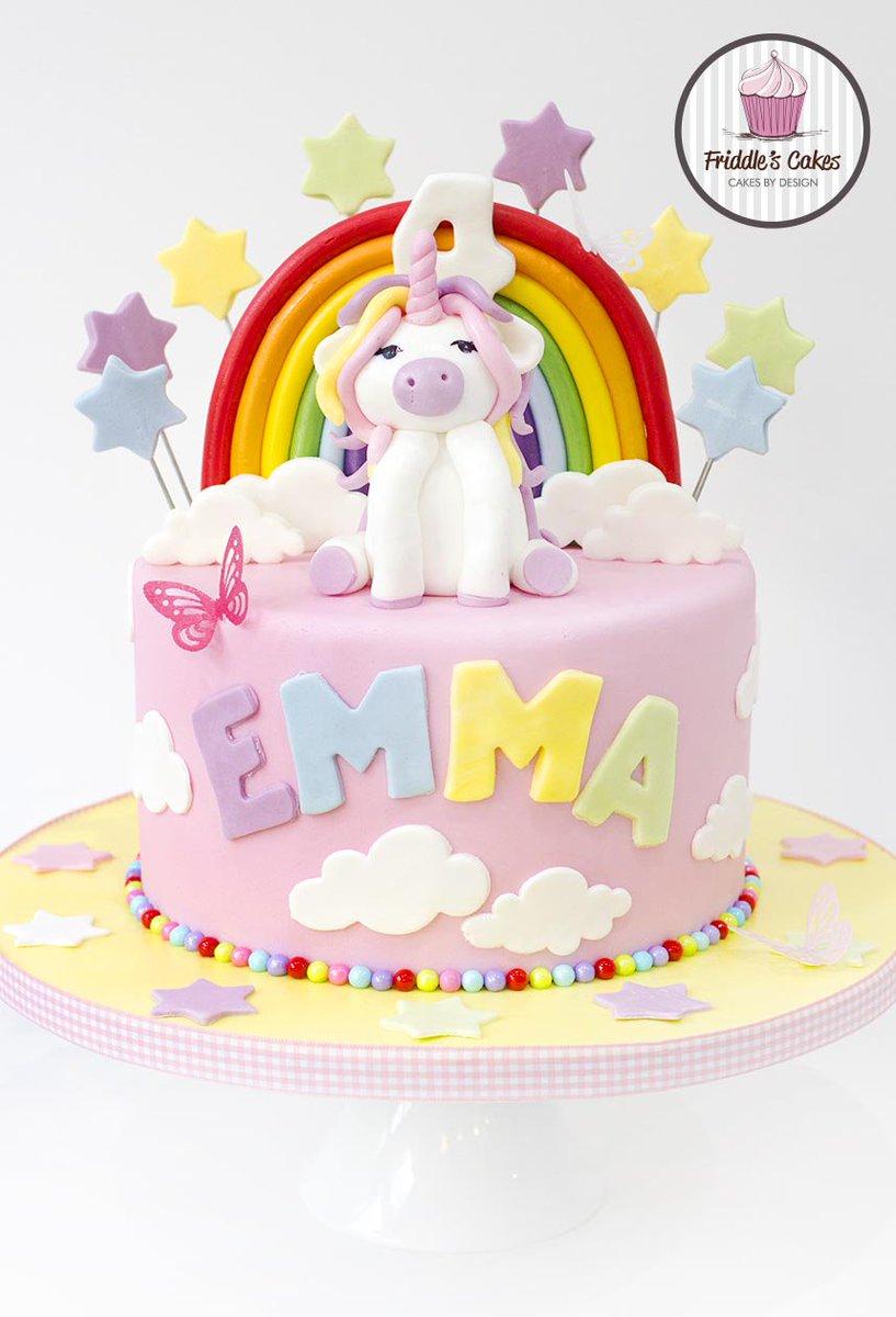 Friddles Cakes On Twitter Unicorn Rainbow Birthday Cake Tco NYUhtChMQq